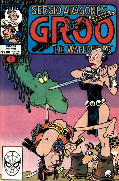 Cover for Sergio Aragonés Groo the Wanderer (Marvel, 1985 series) #53 [Direct Edition]