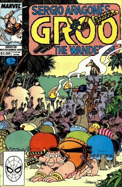 Cover for Sergio Aragonés Groo the Wanderer (Marvel, 1985 series) #58 [Direct Edition]