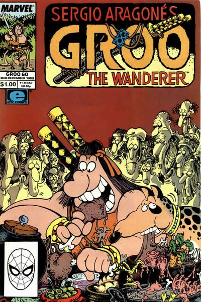 Cover for Sergio Aragonés Groo the Wanderer (Marvel, 1985 series) #60 [Direct Edition]