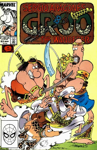 Cover for Sergio Aragonés Groo the Wanderer (Marvel, 1985 series) #63 [Direct Edition]