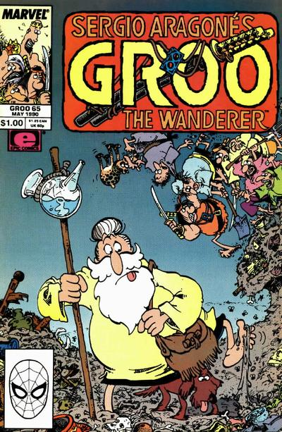 Cover for Sergio Aragonés Groo the Wanderer (Marvel, 1985 series) #65 [Direct Edition]