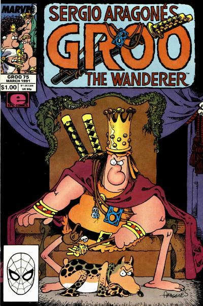 Cover for Sergio Aragonés Groo the Wanderer (Marvel, 1985 series) #75 [Direct Edition]