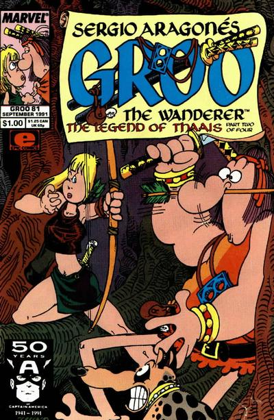Cover for Sergio Aragonés Groo the Wanderer (Marvel, 1985 series) #81 [Direct Edition]