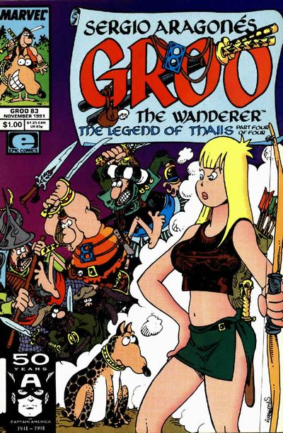 Cover for Sergio Aragonés Groo the Wanderer (Marvel, 1985 series) #83 [Direct Edition]
