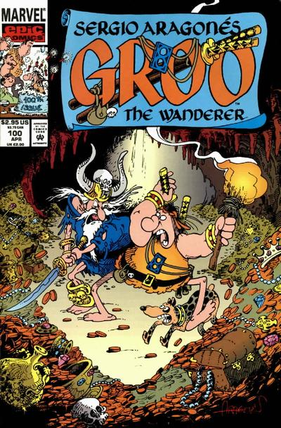 Cover for Sergio Aragonés Groo the Wanderer (Marvel, 1985 series) #100