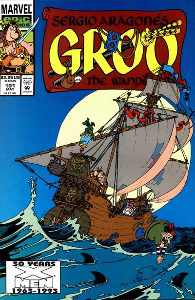 Cover for Sergio Aragonés Groo the Wanderer (Marvel, 1985 series) #101