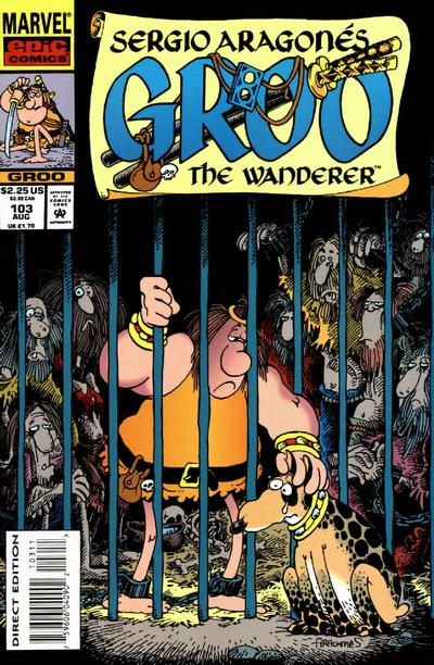 Cover for Sergio Aragonés Groo the Wanderer (Marvel, 1985 series) #103