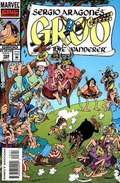 Cover for Sergio Aragonés Groo the Wanderer (Marvel, 1985 series) #104