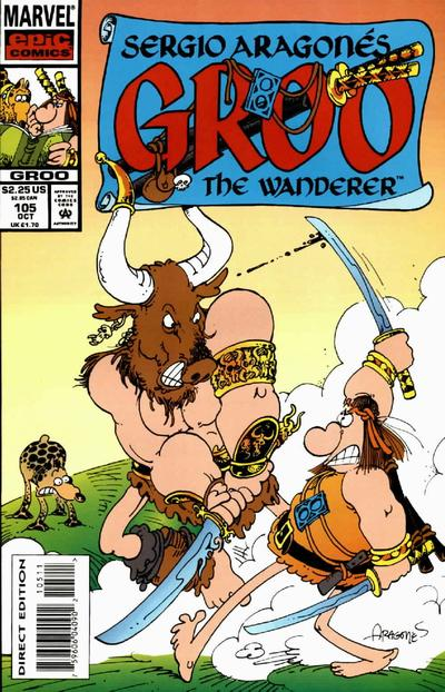 Cover for Sergio Aragonés Groo the Wanderer (Marvel, 1985 series) #105