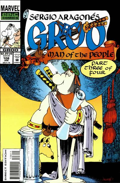 Cover for Sergio Aragonés Groo the Wanderer (Marvel, 1985 series) #108