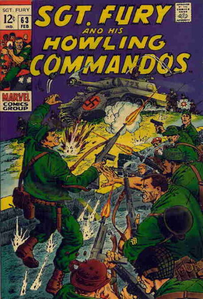 Cover for Sgt. Fury (Marvel, 1963 series) #63