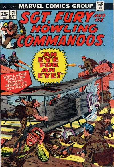 Cover for Sgt. Fury and His Howling Commandos (Marvel, 1974 series) #121