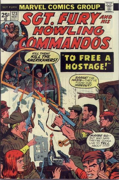Cover for Sgt. Fury and His Howling Commandos (Marvel, 1974 series) #123