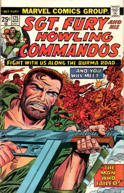 Cover for Sgt. Fury and His Howling Commandos (Marvel, 1974 series) #125
