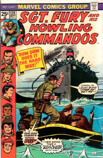 Cover for Sgt. Fury and His Howling Commandos (Marvel, 1974 series) #128