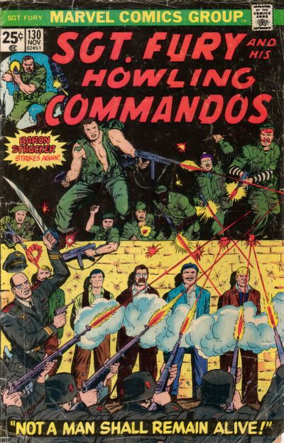 Cover for Sgt. Fury and His Howling Commandos (Marvel, 1974 series) #130