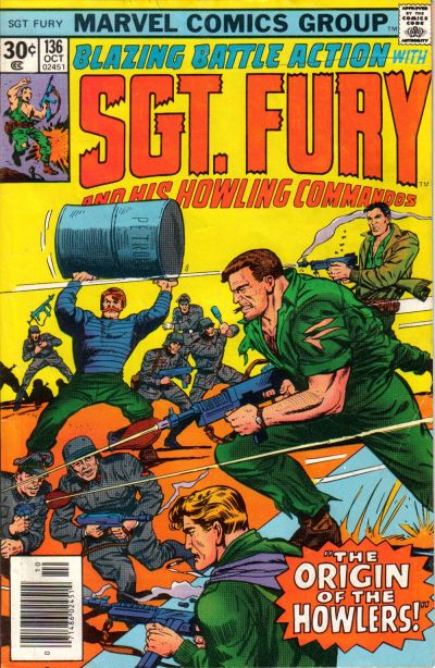 Cover for Sgt. Fury and His Howling Commandos (Marvel, 1974 series) #136