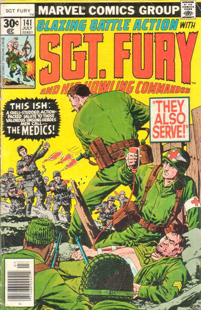 Cover for Sgt. Fury and His Howling Commandos (Marvel, 1974 series) #141 [30 cent cover]