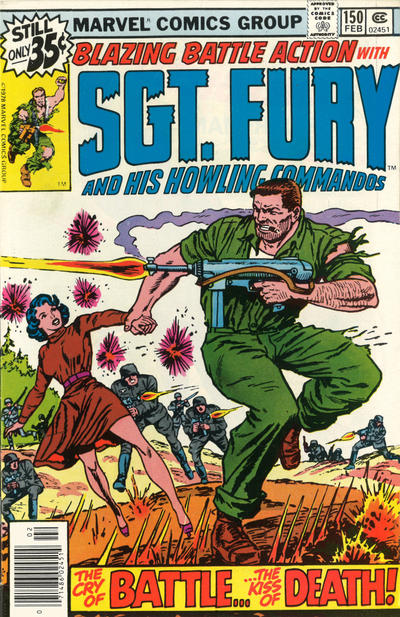Cover for Sgt. Fury and His Howling Commandos (Marvel, 1974 series) #150