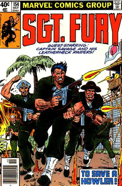 Cover for Sgt. Fury and His Howling Commandos (Marvel, 1974 series) #154