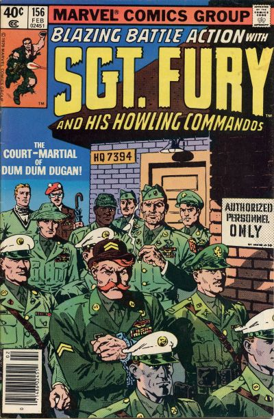 Cover for Sgt. Fury and His Howling Commandos (Marvel, 1974 series) #156
