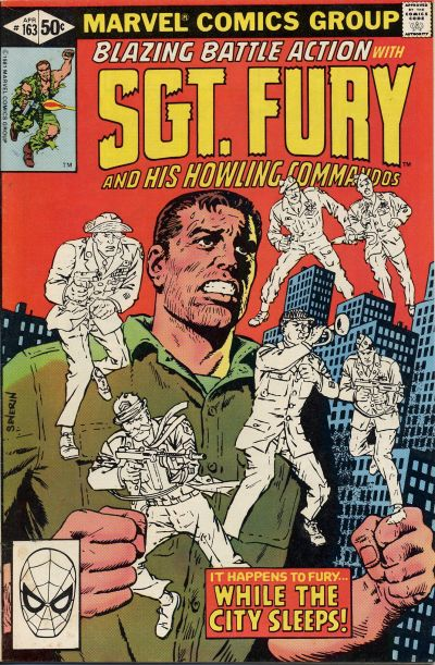Cover for Sgt. Fury and His Howling Commandos (Marvel, 1974 series) #163