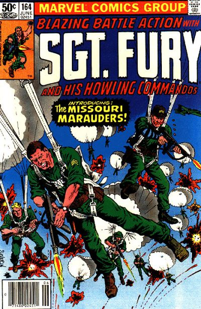 Cover for Sgt. Fury and His Howling Commandos (Marvel, 1974 series) #164
