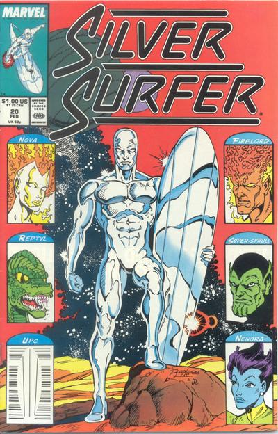 Cover for Silver Surfer (Marvel, 1987 series) #20 [Direct]