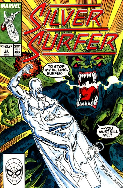 Cover for Silver Surfer (Marvel, 1987 series) #23