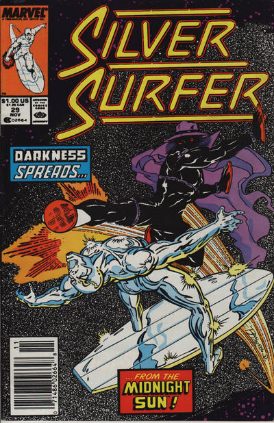 Cover for Silver Surfer (Marvel, 1987 series) #29 [Newsstand]