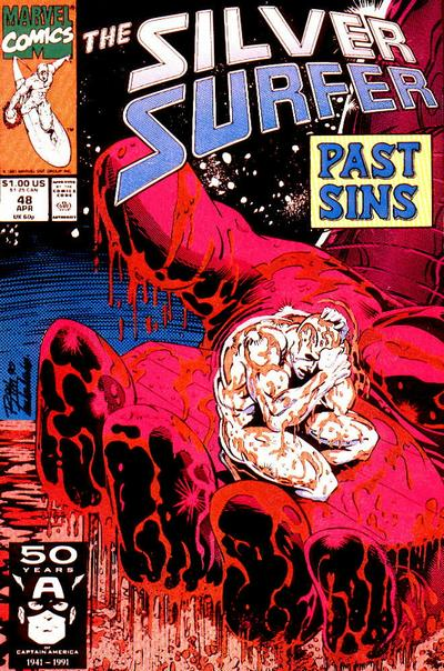 Cover for Silver Surfer (Marvel, 1987 series) #48