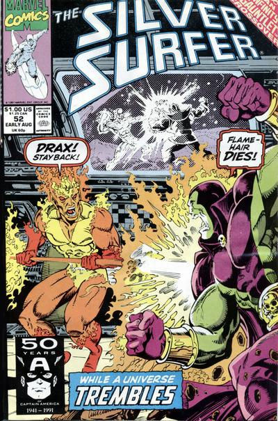 Cover for Silver Surfer (Marvel, 1987 series) #52 [Newsstand Edition]