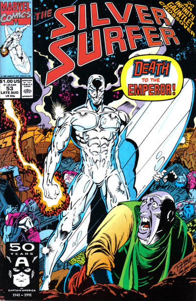 Cover for Silver Surfer (Marvel, 1987 series) #53