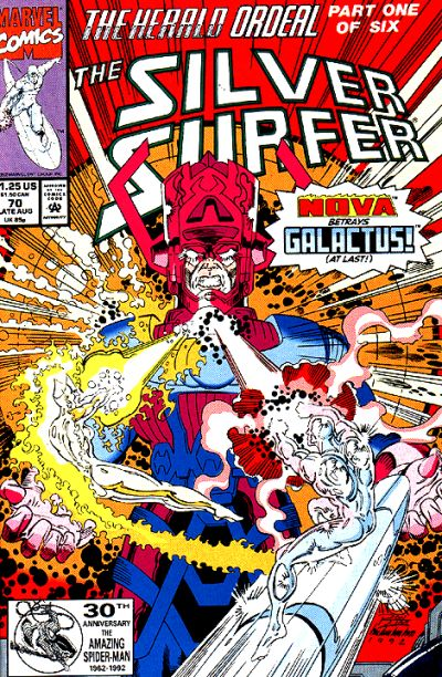 Cover for Silver Surfer (Marvel, 1987 series) #70