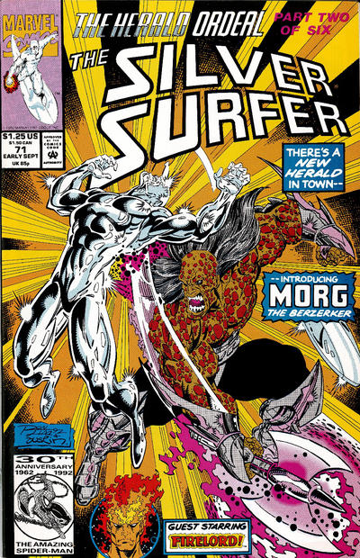 Cover for Silver Surfer (Marvel, 1987 series) #71 [Direct]