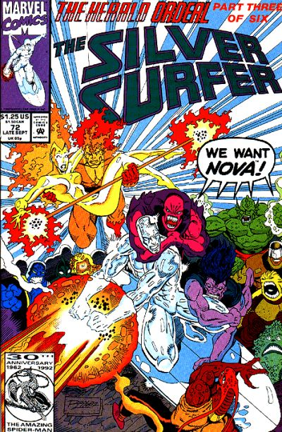 Cover for Silver Surfer (Marvel, 1987 series) #72