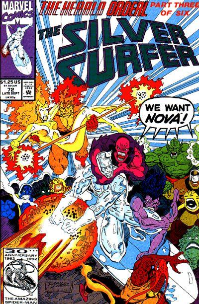 Cover for Silver Surfer (Marvel, 1987 series) #72 [Australian]