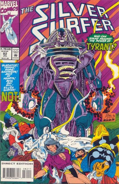 Cover for Silver Surfer (Marvel, 1987 series) #82