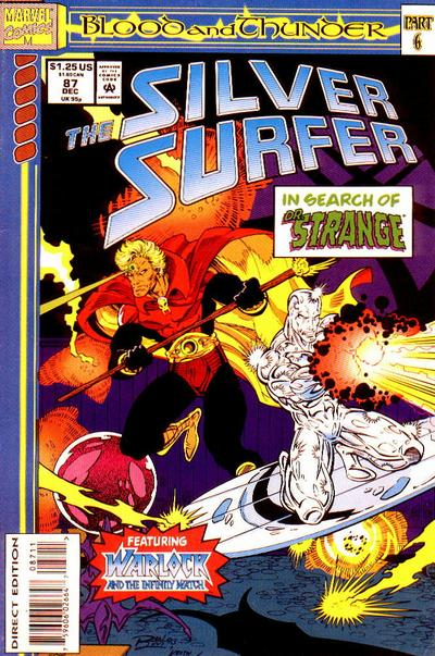 Cover for Silver Surfer (Marvel, 1987 series) #87