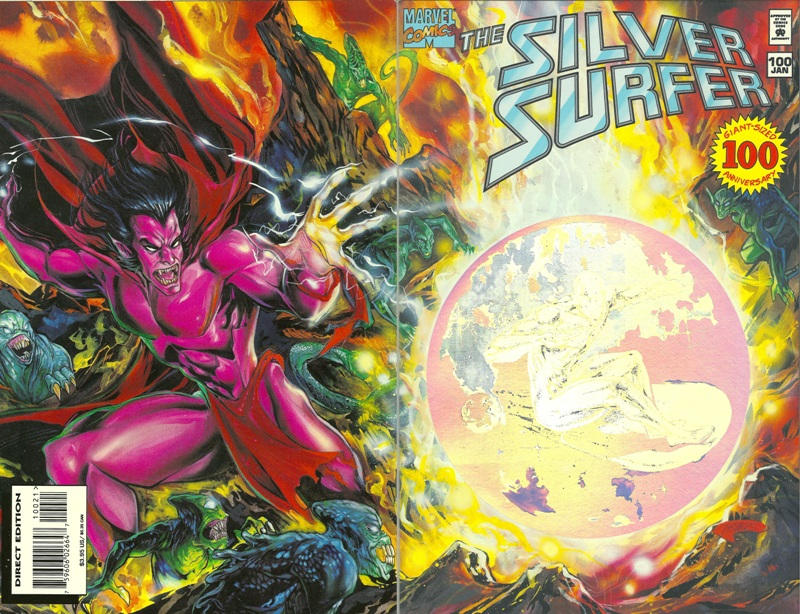 Cover for Silver Surfer (Marvel, 1987 series) #100 [Direct Non-Enhanced Cover]
