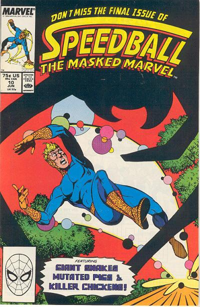 Cover for Speedball (Marvel, 1988 series) #10