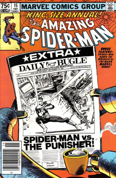Cover for The Amazing Spider-Man Annual (Marvel, 1964 series) #15 [Direct Edition]