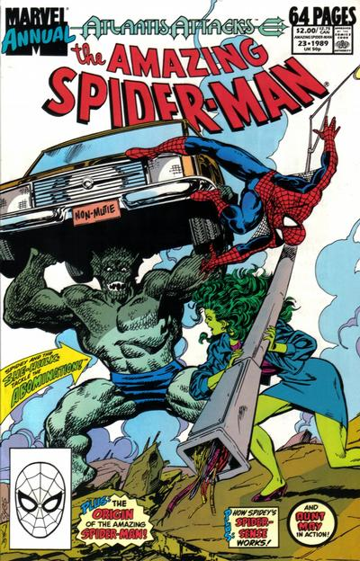 Cover for The Amazing Spider-Man Annual (Marvel, 1964 series) #23 [Direct Edition]
