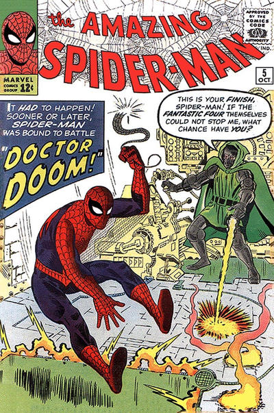 Cover for The Amazing Spider-Man (Marvel, 1963 series) #5 [British Price Variant]
