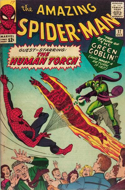 Cover for The Amazing Spider-Man (Marvel, 1963 series) #17 [British Price Variant]