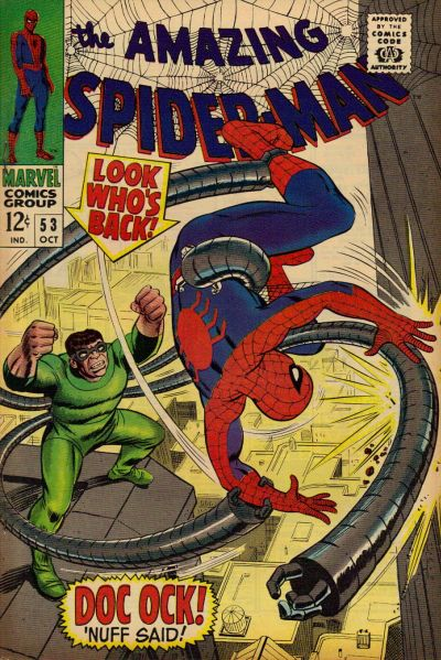 Cover for The Amazing Spider-Man (Marvel, 1963 series) #53 [Regular Edition]