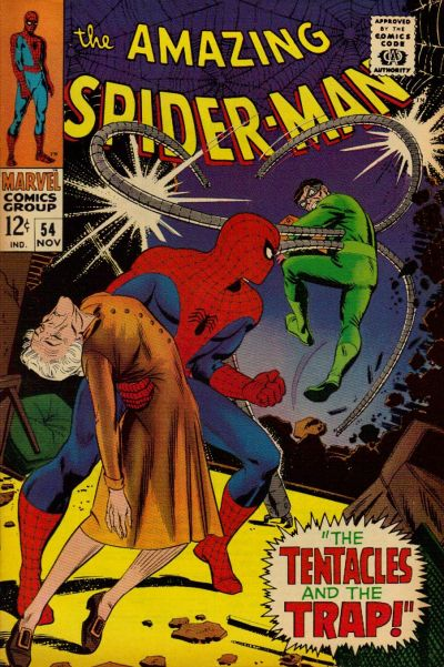 Cover for The Amazing Spider-Man (Marvel, 1963 series) #54 [British]