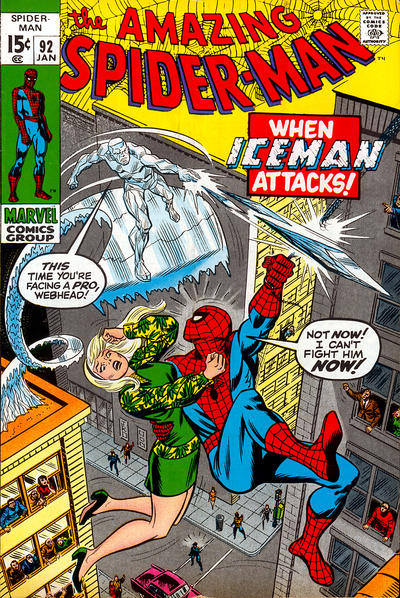 Cover for The Amazing Spider-Man (Marvel, 1963 series) #92 [British]