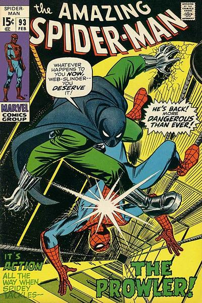 Cover for The Amazing Spider-Man (Marvel, 1963 series) #93 [British Price Variant]