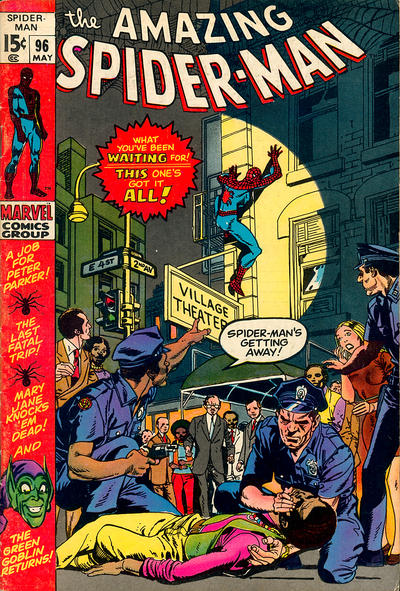 Cover for The Amazing Spider-Man (Marvel, 1963 series) #96 [Regular Edition]